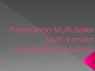 Prestashop multi seller multi-vendor marketplace module