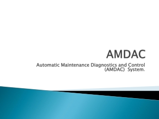 Automatic Maintenance Diagnostics and Control System