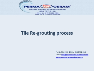 Tile Re-grouting process