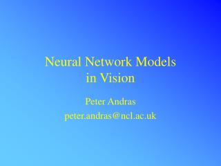 Neural Network Models 