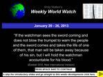 January 20 - 26, 2013