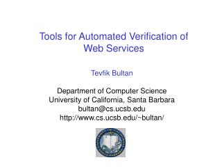 Tools for Automated Verification of 