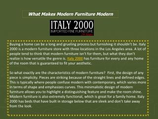 What Makes Modern Furniture Modern