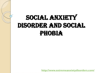 Overcoming social anxiety disorder and social phobia