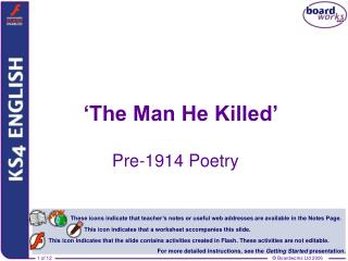 'The Man He Killed'