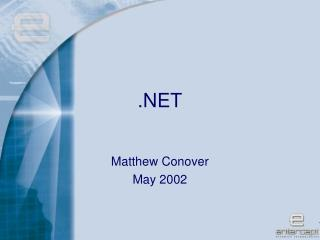 Matthew Conover May 2002