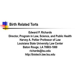 Birth Related Torts