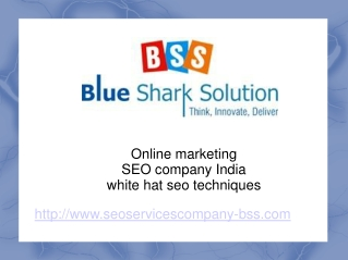 Enhance your online business with SEO Company India