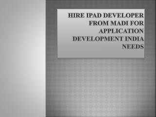Hire iPad app programmers India for application development