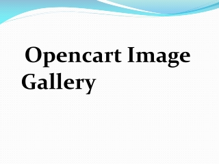 Opencart Image Gallery