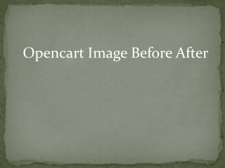 Opencart Image Before After