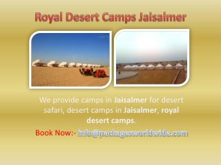 Royal Desert Camps Jaisalmer