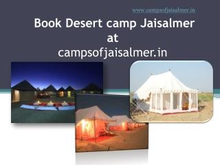 Book Jaisalmer Desert Camp at Campsofjaisalmer