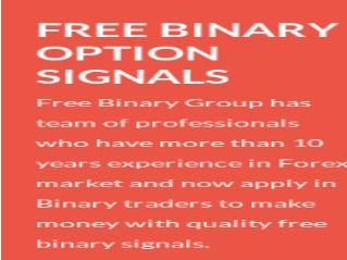 free binary option signals