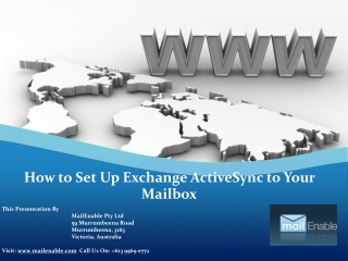 How to Set Up Exchange ActiveSync to Your Mailbox