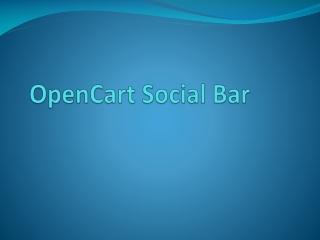 Opencart Social Bar