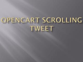 OpenCart Scrolling Tweet