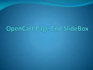 OpenCart Page End SlideBox