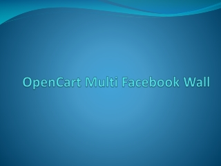 OpenCart Multi Facebook Wall