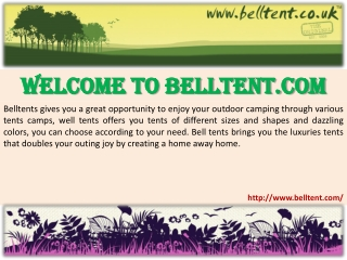 Welcome to belltent.com