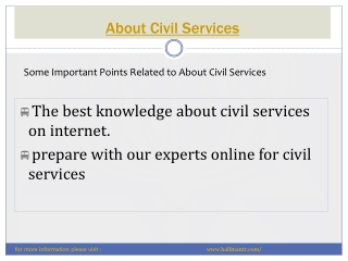 The best website for civil services
