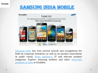 Buy Samsung Smartphones with Findable