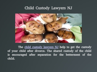 Child Custody New Jersey
