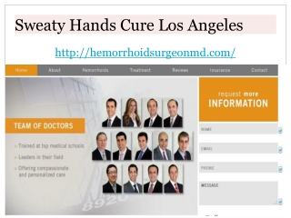 Excessive Sweating Treatment Los Angeles