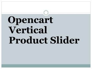 Opencart Vertical Product Slider