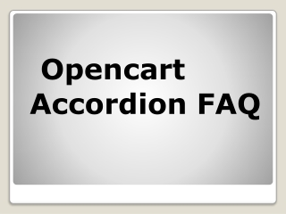 Opencart Accordion FAQ