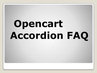 Opencart Accordion FAQ