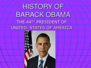 history of barack obama