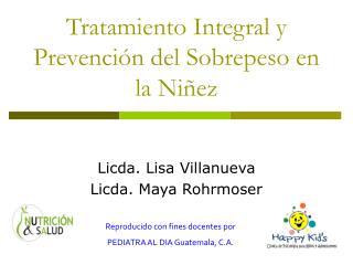 Tratamiento Integral y Prevenci n del Sobrepeso en la Ni ez