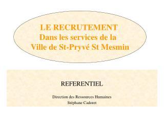 REFERENTIEL   Direction des Ressources Humaines St phane Cadoret
