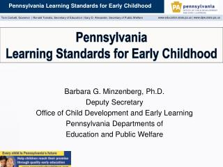 Pennsylvania Learning Standards for Early Childhood