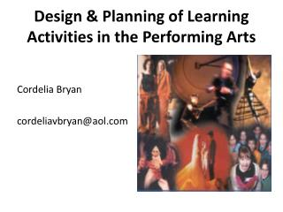 Design  Planning of Learning Activities in the Performing Arts