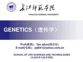 Prof:Yao qilun  E-mail:yql641yahoo
