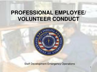 Staff Development Emergency Operations