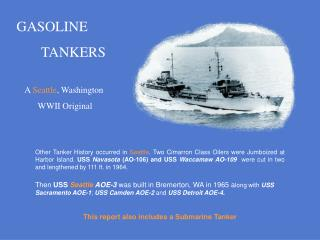 GASOLINE         TANKERS