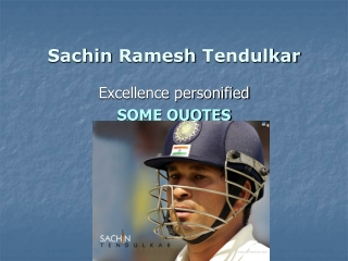 Sachin tendulkar world Records