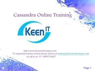cassandra online training