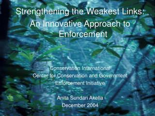 why enforcement