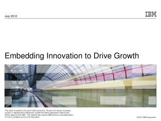 Embedding Innovation to Drive Growth