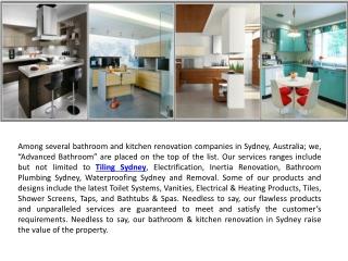 Bathroom Plumbing Sydney