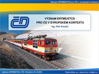 Aplikace ERTMS