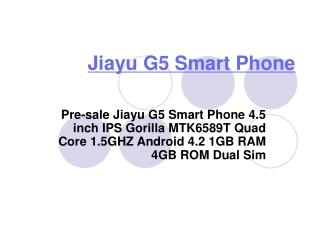 Jiayu G5 Phone