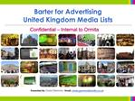 Barter for Advertising United Kingdom Media Lists