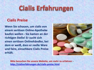 Cialis Preise