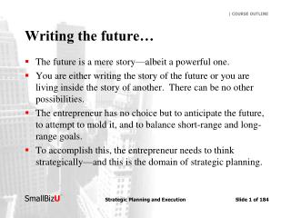 Writing the future