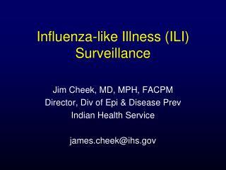 Influenza-like Illness ILI Surveillance